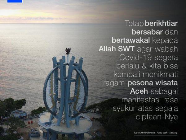Terus jelajahi indahnya Aceh, dengan tetap jaga kesehatan.